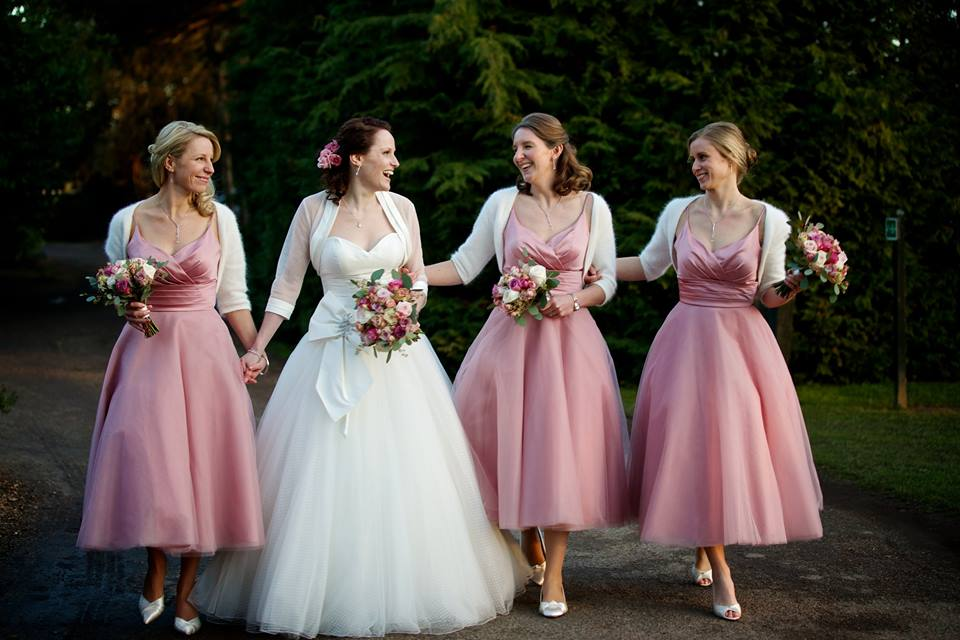 Katherine with her bridesmaids