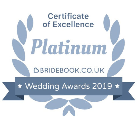 Bridebook Wedding Awards 2019 - Platinum Certificate of Excellence: FairyGothMother