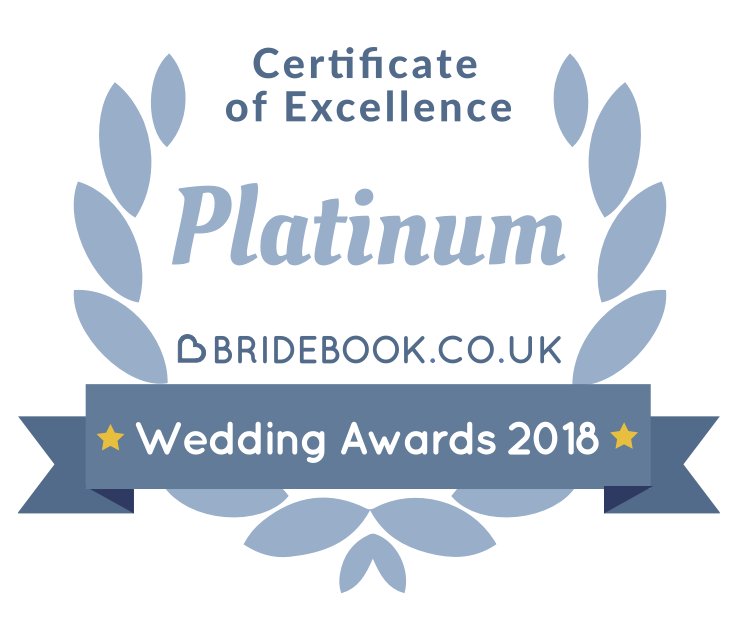 Bridebook Platinum Certificate of Excellence 2018: FairyGothMother