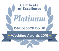 FairyGothMother has been awarded the Platinum Certificate of Excellence in the 2018 Bridebook Wedding Awards