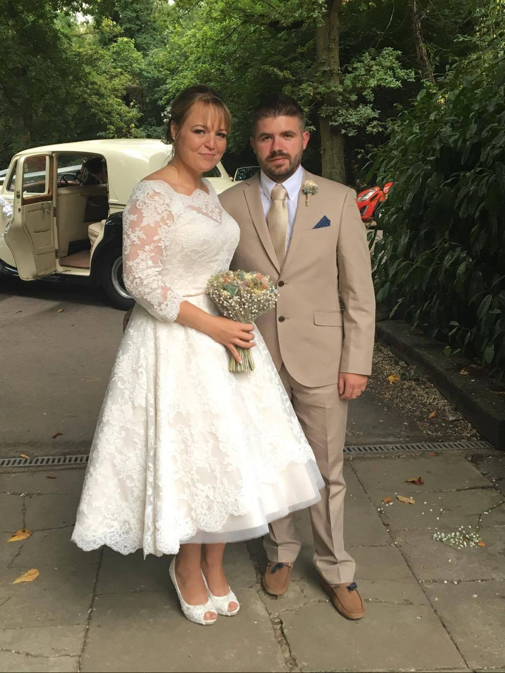 Lisa I. in her Delilah wedding gown.  September 2016