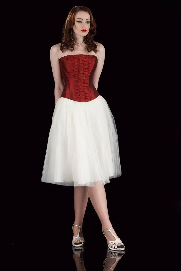 Image of soft tulle 50's length occasion skirt in ivory