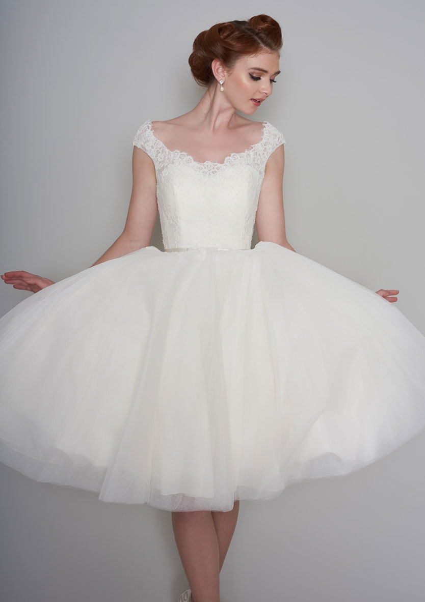 Tea Length Wedding Dresses 50s Short Dress