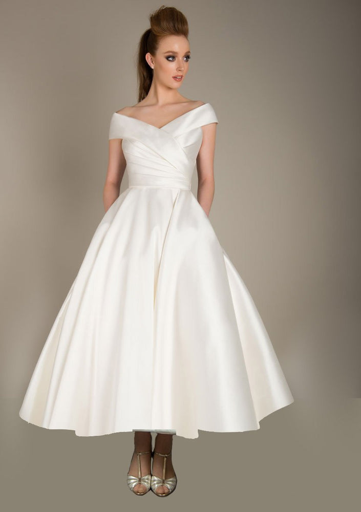 86-maude-r  Deluxe Mikado wedding gown