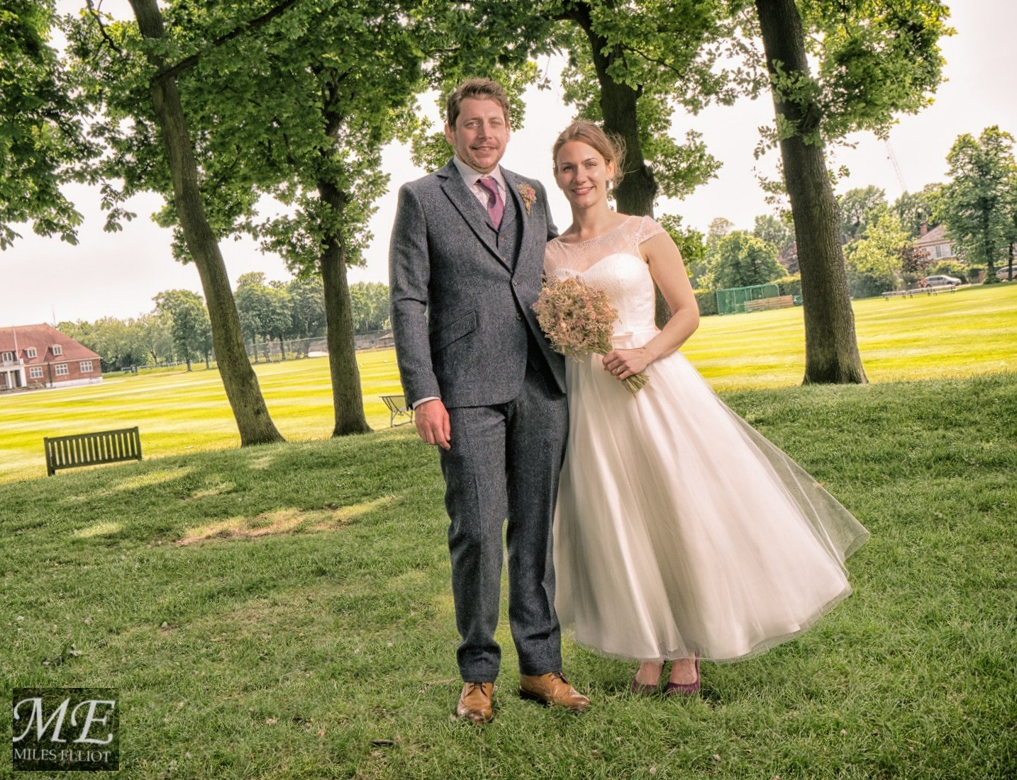 Anja and Brett May 2016. Anja wears her White Rose Margaret dress.