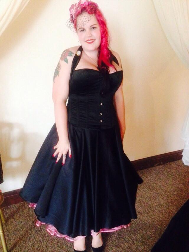 Rachael G in her wedding dress from FairyGothMother May 2015