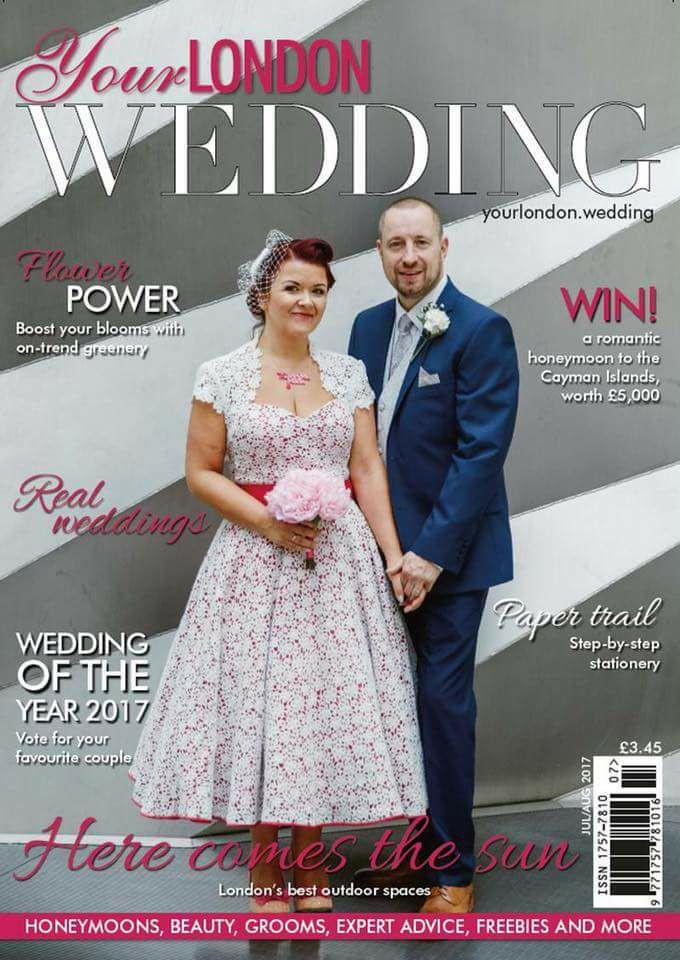 My wedding. Your dress. We made it to the front page! Sarah.