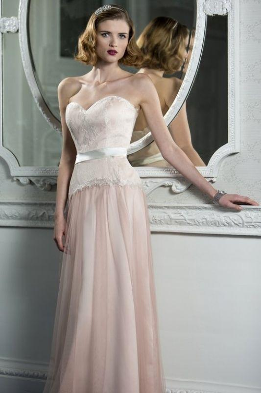 tb-Isla Strapless gown in wintermelon
