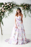 flower floral bridal gown