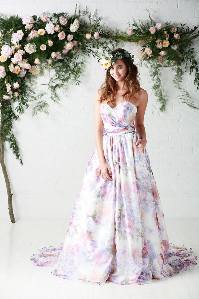 Floral wedding dress for London Brides