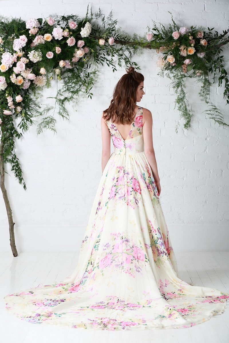 Untamed love floral bridal gown by Charlotte Balbier
