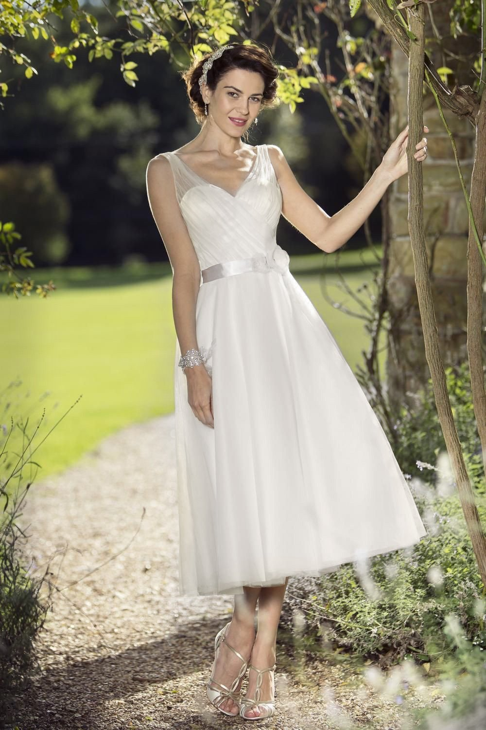 Fifties style shorter bridal gown by True Bride in our London shop ...