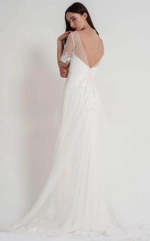 Back of Ava wedding dress by Freda Bennet