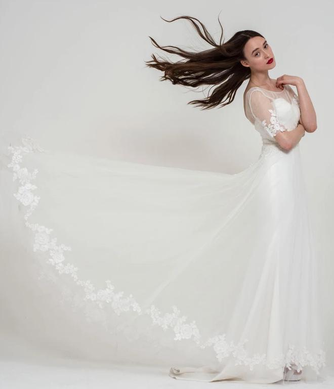 Full skirt of the Ava wedding dress by Freda Bennet