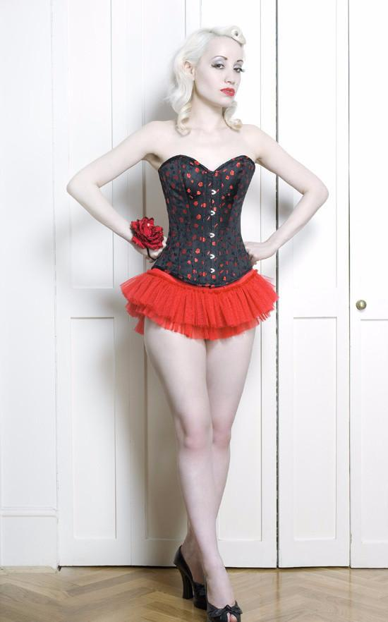 fgm-daisy Classic sweetheart overbust corset