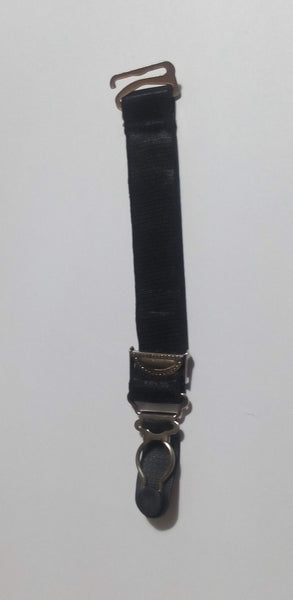 Spare suspender clips available in black or white