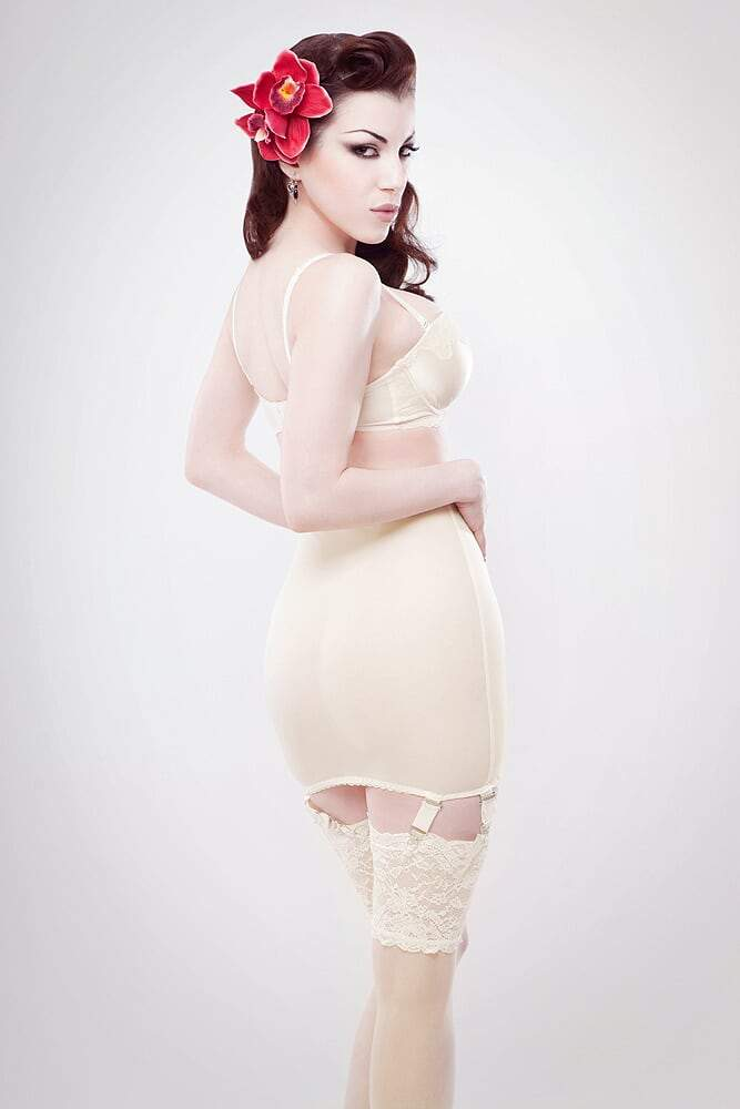 Classic Ivory powermesh girdle