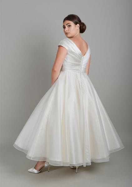 Back of the classic Fifties wedding gown