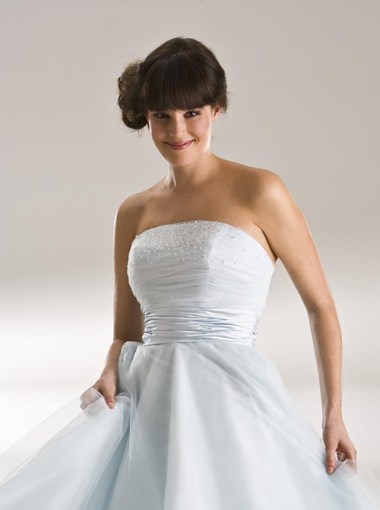 Closeup image of super soft plain tulle wedding gown