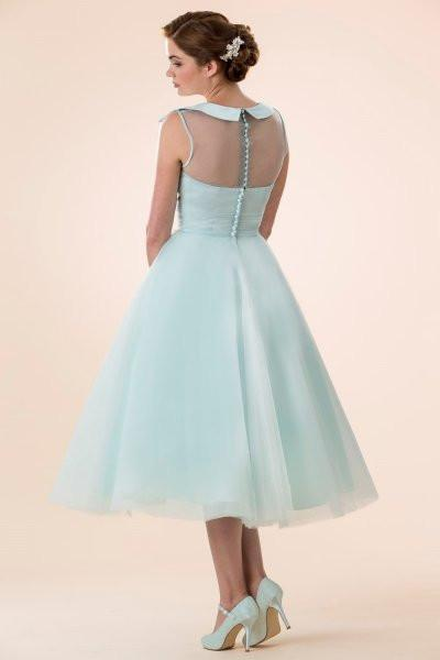 tb-belle Tea length retro Fifties inspired bridesmaid / prom dress