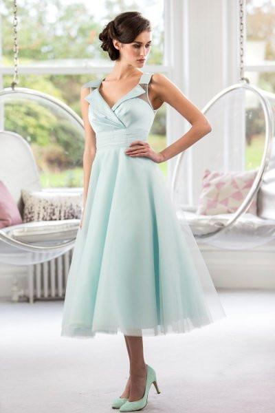 tb-belle-s Tea length retro Fifties inspired bridesmaid / prom dress