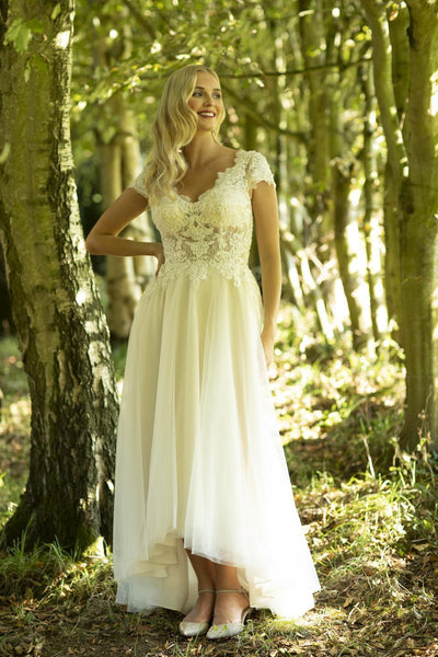 This is Marisa; a chic vintage-inspired lace bridal dress