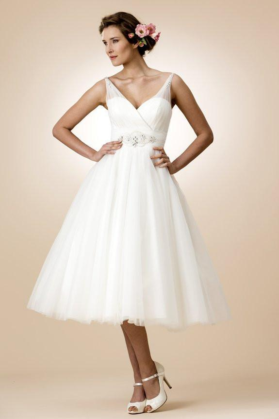 tb-nancy Fifties length tulle bridal gown