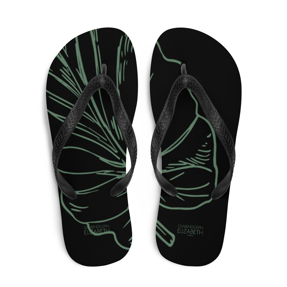 Rainforest Flip-Flops
