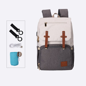 Baby Diaper Backpack with USB Charger