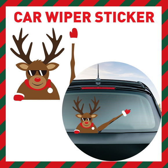 Car Wiper Sticker XMAS
