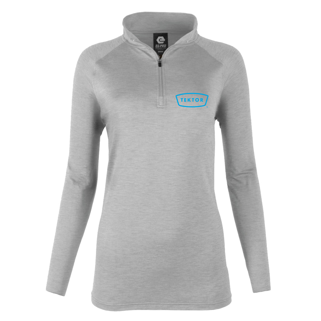 Ladies Long Sleeve Space Dye 1/4 Zip
