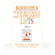 Load image into Gallery viewer, Eat Right 4 Blood Type B - Individual Food, Drink and Supplement lists paperback