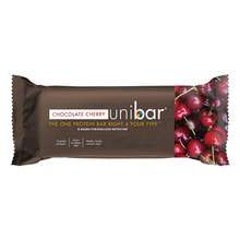 Load image into Gallery viewer, Unibar Chocolate Cherry Box of 12 bars DISCONTINUED