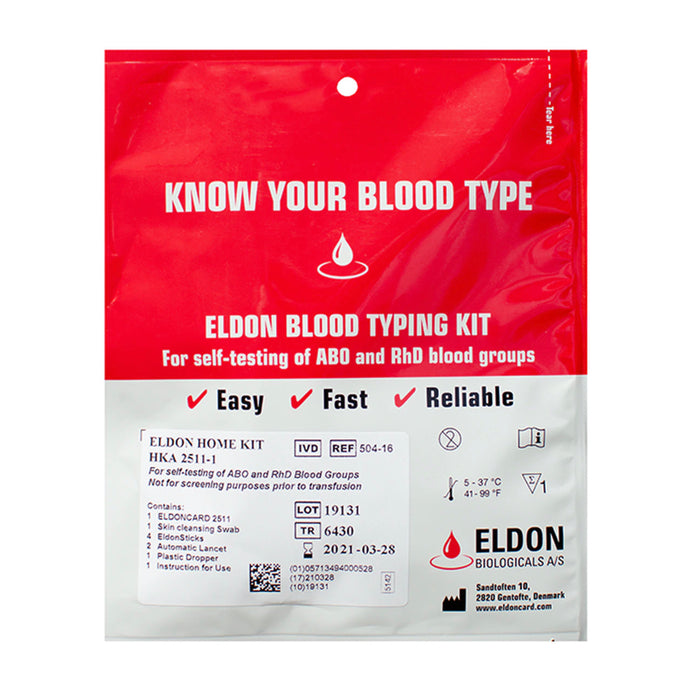 Home Blood Group Test Kit ABO and Rh