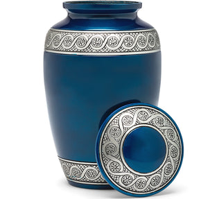 Adult Urn in Blue Rin