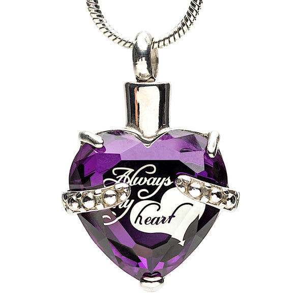 Jewelry Urn for Ashes in Purple