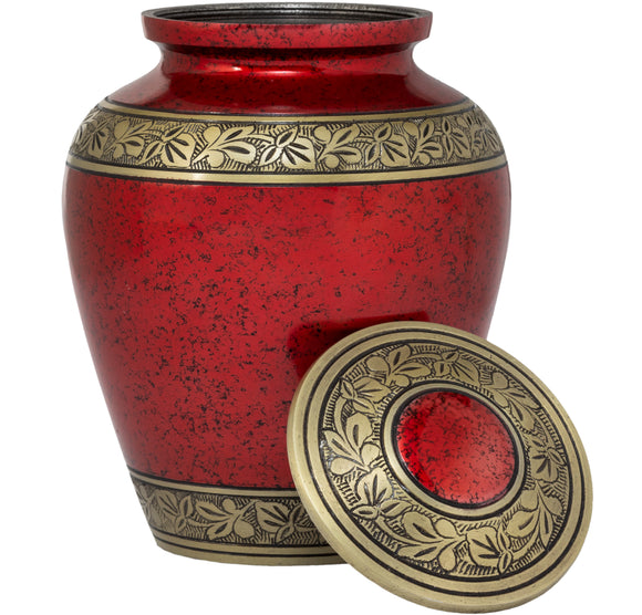 Adult Urn in Red Gold