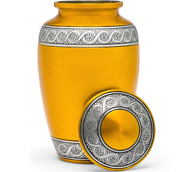 Adult Urn in Gold Ring
