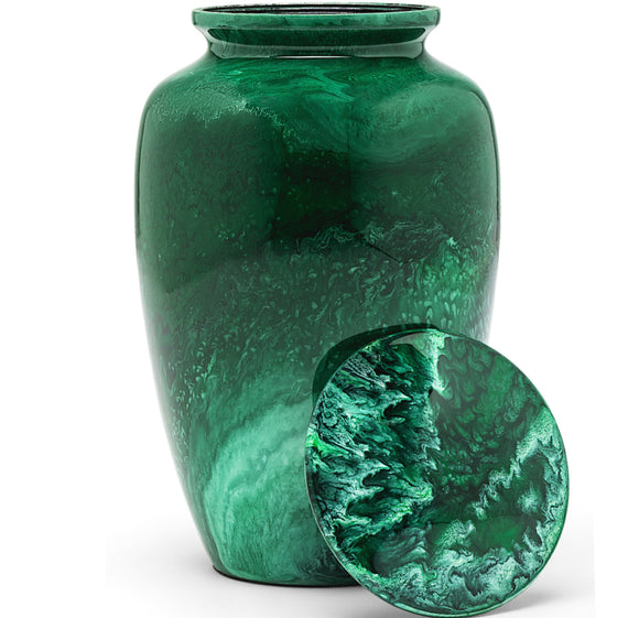 Adult Urn in Green Milo