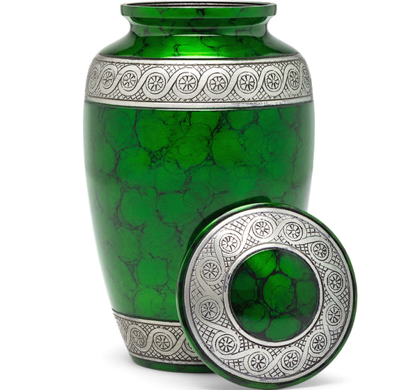 Adult Urn in Green Ring
