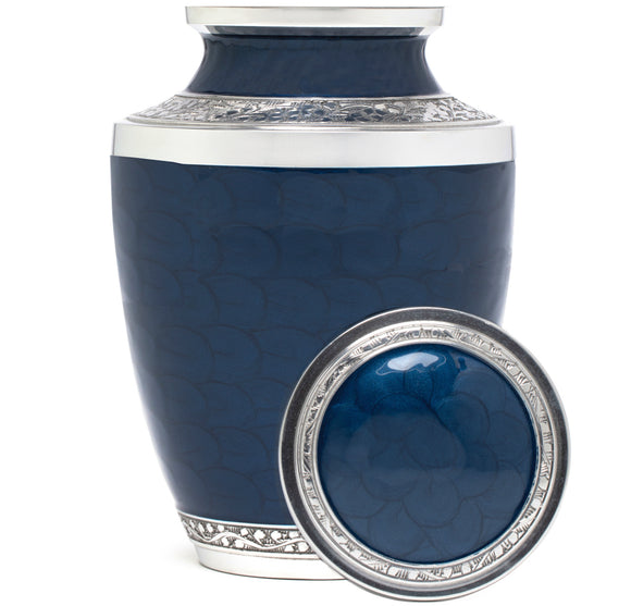 Adult Urn in Blue Peace