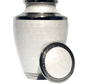 Adult Urn in White Pearl