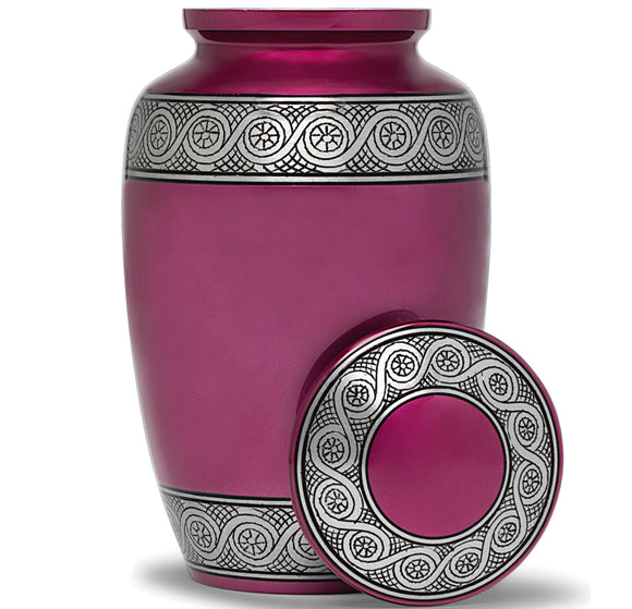 Adult Urn in Purple Ring