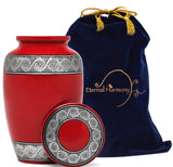 Adult Urn in Rin Red