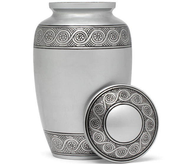 Adult Urn in Silver Ring