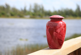 Adult Urn in Red Milo
