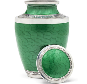 Adult Urn in Green Pearl
