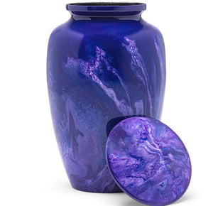 Adult Urn in Purple Milo