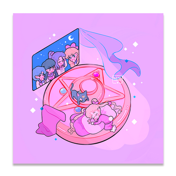 SLEEPY MOON ✦ PRINT