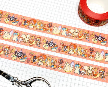 POKÉTYPE FIRE ✦ WASHI TAPE